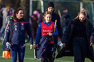 BILTHOVEN -  Hoofdklasse competitiewedstrijd dames, SCHC v hdm, seizoen 2020-2021.<br /> Foto: Ginella Zerbo (SCHC) en Miloe Jaeger (SCHC)