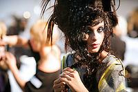 Mariya Markina Backstage at Christian Lacroix Couture Fall 2007