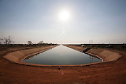Jaiba_MG, Brazil.<br /> <br /> O canal principal de irrigacao do Projeto Jaiba. Agua puxada 50km abaixo do Rio Sao Francisco em Jaiba, Minas Gerais.<br /> <br /> The main canal irrigation Jaiba project. Water drawn 50km below the  Sao Francisco river in Jaiba, Minas Gerais.<br /> <br /> Foto: LEO DRUMOND / NITRO