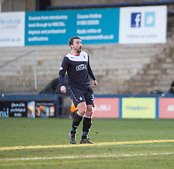 Falkirk's Mark Millar watches as he scores their fourth goal from a free kick.<br /> Raith Rovers 2 v 4 Falkirk, Scottish Championship game today at Starks Park.<br /> © Michael Schofield.