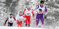 Langrenn<br /> FIS World Cup<br /> Kuusamo Finland<br /> 02.12.2012<br /> Foto: Gepa/Digitalsport<br /> NORWAY ONLY<br /> <br /> FIS Weltcup, Nordic Opening, 15km Verfolgung der Herren, klassisch. Bild zeigt Keishin Yoshida (JPN), Niklas Dyrhaug (NOR), Maciej Kreczmer (POL) und Toni Livers (SUI).
