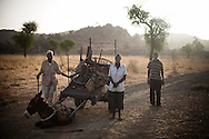Refugee walk towards South Sudan after running out of food.