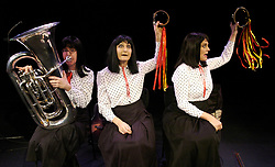 The Kransky Sisters<br /> with ' Heard it on the Wireless'<br /> live performance at the Pitt Theatre, Barbican, London, Great Britain<br /> October 16/ 2007<br /> <br /> L to R<br /> Eve Kransky ; Mourne Kransky ; Dawn Kransky<br /> Photograph by Elliott Franks