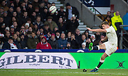 Twickenham, United Kingdom. Owen FARRELL, kicking second half conversion, during the Old Mutual Wealth Series Rest Match: England vs Australia, at the RFU Stadium, Twickenham, England, <br /> <br /> Saturday  03/12/2016<br /> <br /> [Mandatory Credit; Peter Spurrier/Intersport-images]