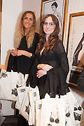 ISOBEL AUSTIN-LITTLE; FRANKIE MATTHEWS, WITH GOODY BAGS, Maison Triumph launch to celebrate the beginning of London fashion week. Monmouth St. 14 February 2013.