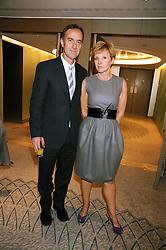 ANGUS DEAYTON and ANNE ROBINSON at a tribute lunch in honour of Michael Aspel hosted by The Lady Taverners at The Dorchester, Park Lane, London on 14th November 2008.