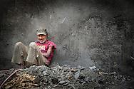 Portrait of a pottery maker in Fes el Bali, Fes, Morocco