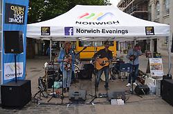 Norwich evenings, summer events held in Norwich city centre, Norfolk July 2016