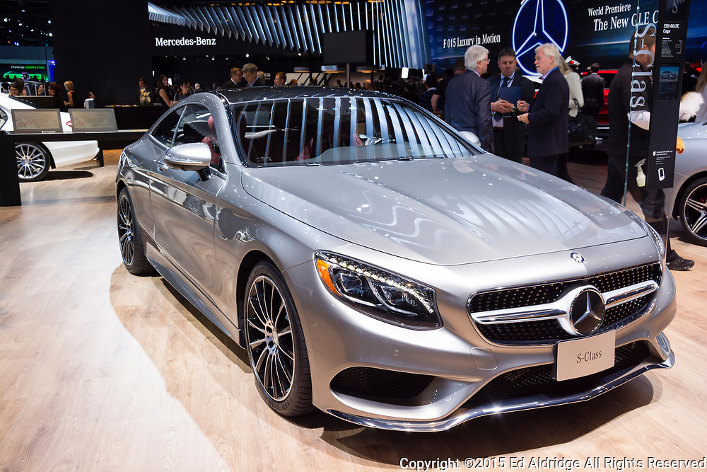 DETROIT, MI, USA - JANUARY 12, 2015: Mercedes S-Class coupe on display during the 2015 Detroit International Auto Show at the COBO Center in downtown Detroit.