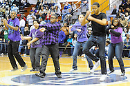 Clearview and Lorain High dance teams during halftime  on February 12, 2011.