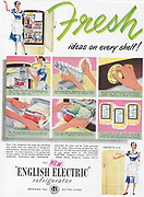 English Electric refrigerator fresh ideas advert advertising in Country Life magazine UK 1951
