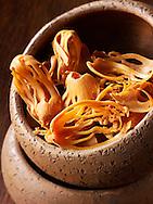 Organic whole mace spice - Stock Photos