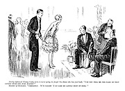 """Newly-affianced young lady (who is never going to forget the dance she has just had). """"Can you tell me the name of that lovely tune you just played?"""" Member of orchestra. """"Certainly. It's called 'I Do Like my Little Drop of Beer.'"""""""