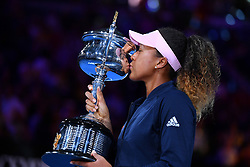 January 26, 2019 - Melbourne, AUSTRALIA - Naomi Osaka defeated Petra Kvitova in Australian open Final (Credit Image: © Panoramic via ZUMA Press)