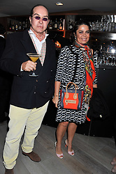 DANIELLA ISSA HELAYEL and OLIVIER MURAO at a party to launch Senkai - London's first modern Japanese-inspired restaurant at 65 Regent Street, London on 26th October 2011.