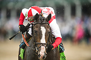 May 4, 2019: 145th Kentucky Derby at Churchill Downs. Bricks and Mortar ridden by Irad Ortiz, Jr. wins the Old Forester Turf Classic S. (G1T)