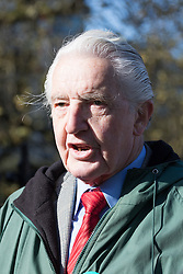 """St Thomas' Hospital, London, April 26th 2016. Labour MP Dennis Skinner, recently ejected from Parliament for referring to the Prime Minister David Cameron as """"Dodgy Dave"""", lends his support to Junior doctors picketing St Thomas' hospital as they strike again against new contracts imposed on them by the Department of Health. ©Paul Davey<br /> FOR LICENCING CONTACT: Paul Davey +44 (0) 7966 016 296 paul@pauldaveycreative.co.uk"""