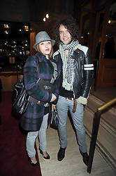 STEFAN SIELER and RUTH CARNAC at the Cirque du Soleil's gala premier of Quidam held at the Royal Albert Hall, London on 6th January 2009