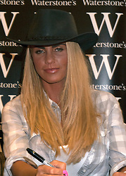 © licenced to London News Pictures. Peterborough, UK 07/05/2011.Katie Price has been spotted wearing a diamond ring on her engagement finger.  Katie Price/Jordon at a book signing at Waterstones in Peterborough. Photo credit should read Jason Patel/LNP. Please see special instructions.