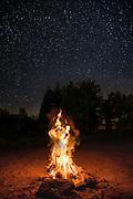 Campfire at Thomas Mountain