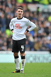Derby County's Craig Bryson cuts a dejected figure - Photo mandatory by-line: Dougie Allward/JMP - Mobile: 07966 386802 - 17/01/2015 - SPORT - Football - Derby - iPro Stadium - Derby County v Nottingham Forest - Sky Bet Championship