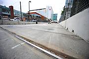 September 2-4, 2011. American Le Mans Series, Baltimore Grand Prix. Railroad tracks in Baltimore