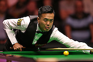 Marco Fu (HK) looking on. Marco Fu (HK) v Mark Allen (NI) , Quarter-Final match at the Dafabet Masters Snooker 2017, at Alexandra Palace in London on Thursday 19th January 2017.<br /> pic by John Patrick Fletcher, Andrew Orchard sports photography.