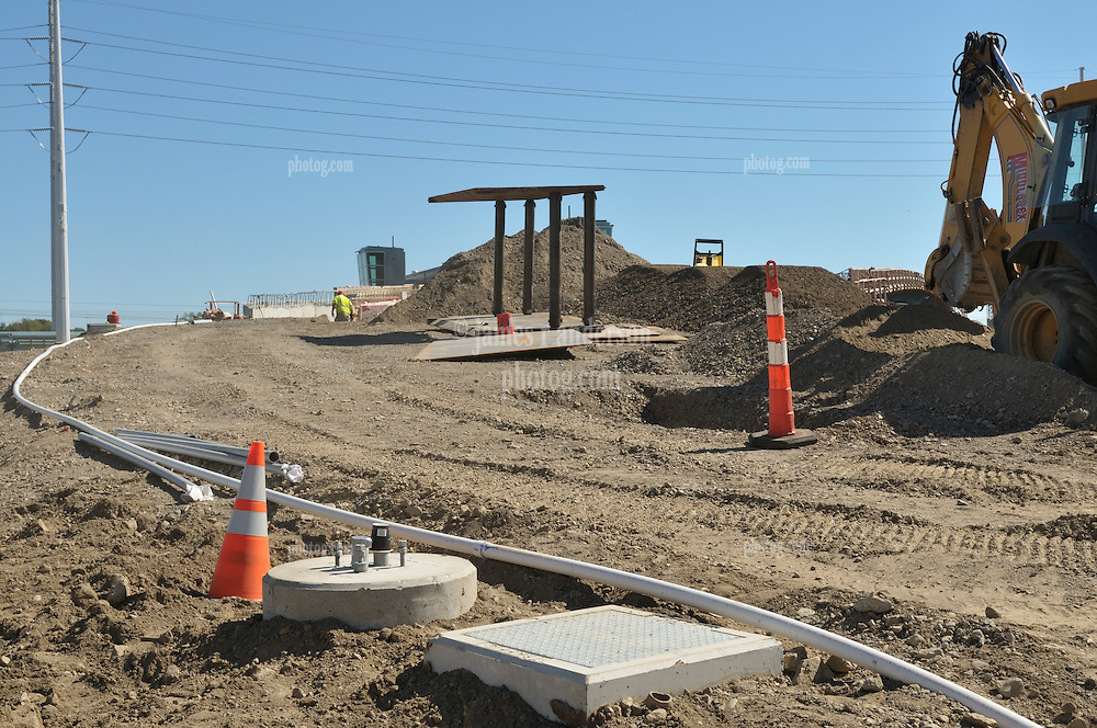 Construction Progress Photography of the Railroad Station at Fairfield Metro Center. 27th Site Visit, Pre-Construction, of once per month periodic photography coverage of the entire project. Primary Contractor: The Middlesex Corporation, Littleton, MA. Owner: Connecticut Department of Transportation. Serving Metro-North Commuter Railroad.