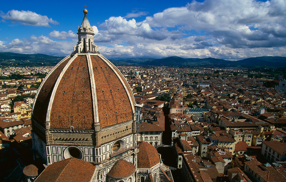 """View of Florence from the top of the Duomo's """"Campanile."""