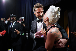 February 24, 2019 - Hollywood, California, U.S. - Bradley Cooper and Lady Gaga backstage during the Academy Awards or Oscars at the Dolby Theatre in Hollywood. (Credit Image: © AMPAS/ZUMA Wire/ZUMAPRESS.com)
