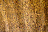 Human form with horns carved by Fremont People rock art petroglyph (prehistoric rock carving dated 600-1300 AD) in the Douglas Creek Canyon south of Rangely, Colorado, USA on Bureau of Land Management (BLM) public lands.