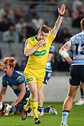 Referee Brendon Pickerill signals a penalty try.<br /> Blues v Waratahs, Sky Super Rugby Trans-Tasman. Eden Park, Auckland. New Zealand. Saturday 22 May 2021. © Copyright Photo: Andrew Cornaga / www.photosport.nz
