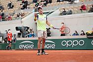 Dominik Koepfer (ALL) reacted during the Roland Garros 2020, Grand Slam tennis tournament, on September 30, 2020 at Roland Garros stadium in Paris, France - Photo Stephane Allaman / ProSportsImages / DPPI