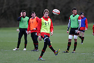 Liam Williams of Wales in action. Wales rugby team training at the Vale, Hensol near Cardiff, South Wales on Tuesday 12th March 2013.  the team are training ahead of the final RBS Six nations match against England this weekend. pic by  Andrew Orchard, Andrew Orchard sports photography,
