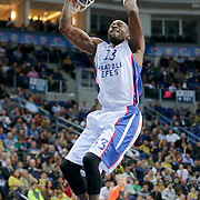 Anadolu Efes's Stephane Lasme during their Turkish Airlines Euroleague Basketball Top 16 Round 14 match Fenerbahce Ulker between Anadolu Efes at the Ulker Sports Arena in Istanbul, Turkey, Thursday 09 April, 2015. Photo by Aykut AKICI/TURKPIX