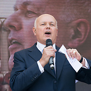 Speakers MP Iain Duncan Smith,  End Our Cladding Scandal demand the law protest Leasehold Laws. Stop used Leaseholder as endless cash cows, Parliament Square on 2021-09-16, London, UK.