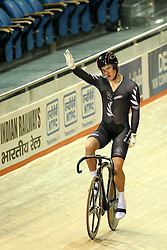 Michael Webster of New Zealand wins bronze during the men's sprint bronze final held at the velodrome at the Indira Gandhi Sports Complex in New Delhi, India on the 7 October 2010..Photo by:  Ron Gaunt/SPORTZPICS/PHOTOSPORT