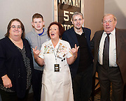 03/11/2016 Repro fee: Rita Gilligan's book The Rock 'n' Roll Waitress from The Hard Rock Cafe My Life by Rita Gilligan in Hotel Meyrick, Galway was launched my Cllr. Noel Larkin Mayor of Galway. At the launch were Sheila Grealish, author Rita Gilligan Adam and Bernard Cameron, Bohermore, and Paddy Fahy Bohermore.<br /> <br />   Photo :Andrew Downes, XPOSURE