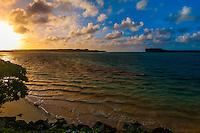 Sunrise, Mouli, Island of Ouvea, Loyalty Islands, New Caledonia