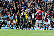 Chelsea's Ramires (3rd left) is sent off. Barclays Premier League, Aston Villa v Chelsea at Villa Park in Birmingham on Saturday 11th May 2013. pic by Andrew Orchard,  Andrew Orchard sports photography,