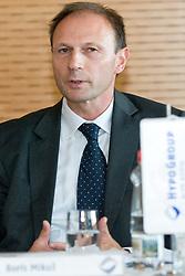 Boris Mikuz, director of AZS, at press conference of Matic Osovnikar's future plans in his career on October 29, in Hypo Group Alpe Adria, in Ljubljana, Slovenia.  (Photo By Matic Klansek Velej / Sportida.com)
