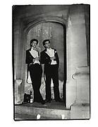 David Faber and abdul Faradani. ( IN Bullingdon coats. ) Oriel Ball. Oxford. 1982