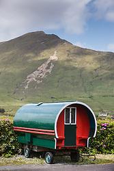 Red and green wagon, Leenaun, County Galway, Ireland
