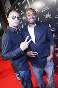"""l to r: Al Russell and Steve Stout at """" Lincoln After Dark """" sponsored by Lincoln Motors and hosted by Idris Elba and Steve Harvey and music by Biz Markie during the 2009 Essence Music Festival and held at The Contemporary Arts Center in New Orleans on July 4, 2009"""
