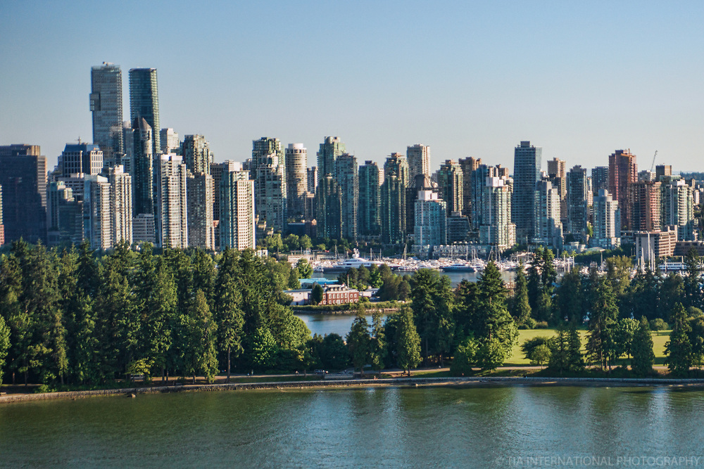 Stanley Park (foreground) & Vancouver Skyline