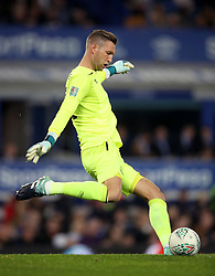 """Everton goalkeeper Maarten Stekelenburg during the Carabao Cup, Third Round match at Goodison Park, Liverpool. PRESS ASSOCIATION Photo. Picture date: Wednesday September 20, 2017. See PA story SOCCER Everton. Photo credit should read: Nick Potts/PA Wire. RESTRICTIONS: EDITORIAL USE ONLY No use with unauthorised audio, video, data, fixture lists, club/league logos or """"live"""" services. Online in-match use limited to 75 images, no video emulation. No use in betting, games or single club/league/player publications"""