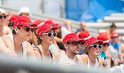 30.07.2014, Strandbad, Klagenfurt, AUT, A1 Beachvolleyball Grand Slam 2014, im Bild  // during the A1 Beachvolleyball Grand Slam at the Strandbad Klagenfurt, Austria on 2014/07/30. EXPA Pictures © 2014, EXPA Pictures © 2014, PhotoCredit: EXPA/ Mag. Gert Steinthaler