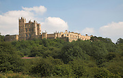 Bolsover Castle, Derbyshire, England  built Sir Charles Cavendish in 1612 showing the towers of Little Castle to the left.