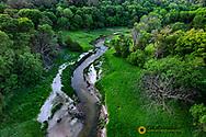 Long Pine Creek gorge in Long Pine, Nebraska, USA