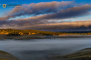 Fogbank at sunrise in the Salish Mountains in Lake County, Montana, USA